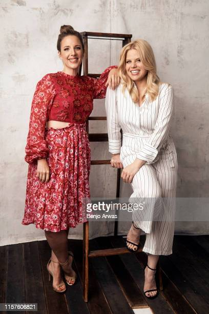 Jessie Mueller and Megan Hilty of Lifetime TV's 'Patsy Loretta' pose for a portrait during the 2019 Summer TCA Portrait Studio at The Beverly Hilton...