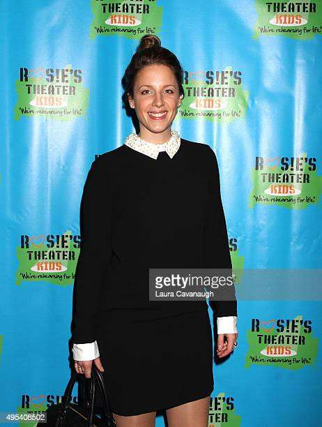 Jessie Mueller attends Rosie's Theater Kids' 12th Annual Gala Celebration at The New York Marriott Marquis on November 2 2015 in New York City