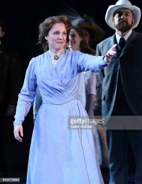 Jessie Mueller during the Opening Night Curtain Call for 'Carousel' at the Imperial Theatre on April 12 2018 in New York City