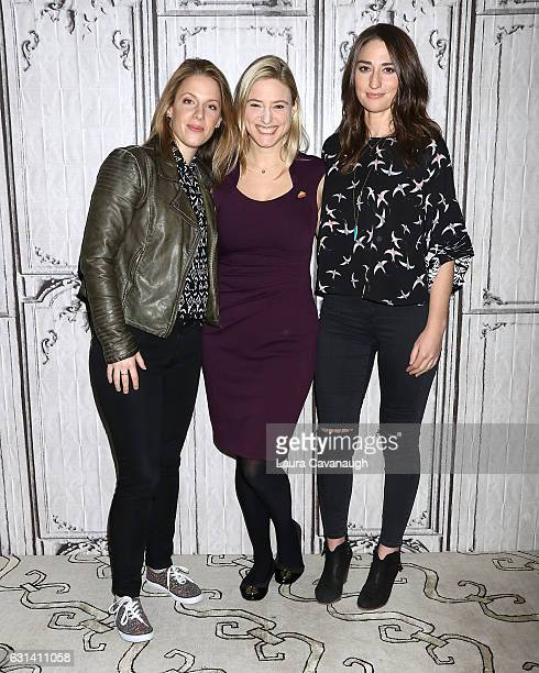 Jessie Mueller Laura Heywood and Sara Bareilles attend Build Presents to discuss Waitress at AOL HQ on January 10 2017 in New York City