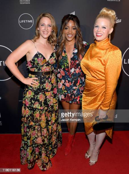 Jessie Mueller Mickey Guyton and Megan Hilty attend a special screening and reception for Patsy Loretta presented by Lifetime at the Franklin Theatre...