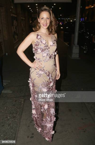 Jessie Mueller poses at the opening night of the revival of Carousel on Broadway at The Imperial Theatre on April 12 2018 in New York City