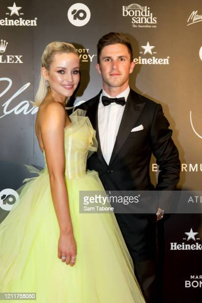 Jessie Murphy and Marc Murphy attends the Glamour On The Grid party on March 11 2020 in Melbourne Australia