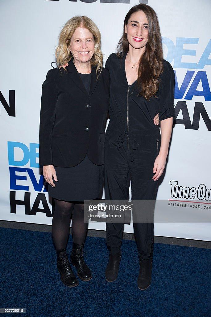 Jessie Nelson and Sara Bareilles attend 'Dear Evan Hansen' opening at Music Box Theatre on December 4, 2016 in New York City.