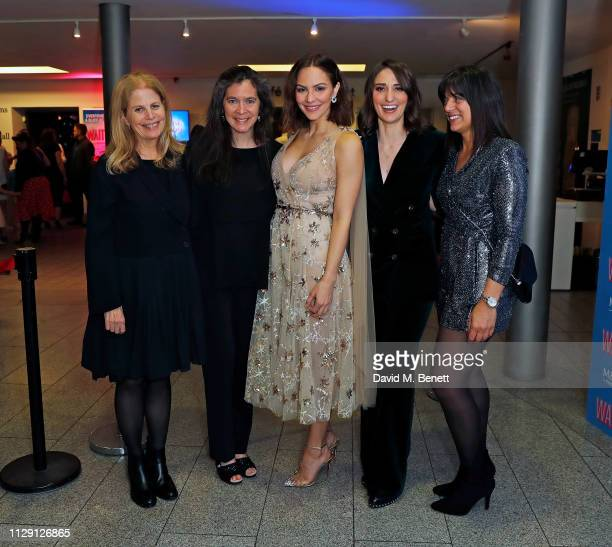 Jessie Nelson Diane Paulus Katharine McPhee Sara Bareilles and Nadia DiGiallonardo attend the press night after party for 'Waitress The Musical' at...