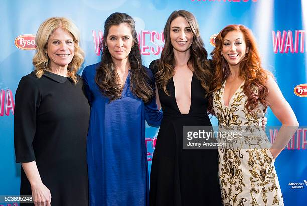 Jessie Nelson Diane Paulus Sara Bareilles and Lorin Latarro attend 'Waitress' Broadway opening night at The Brooks Atkinson Theatre on April 24 2016...