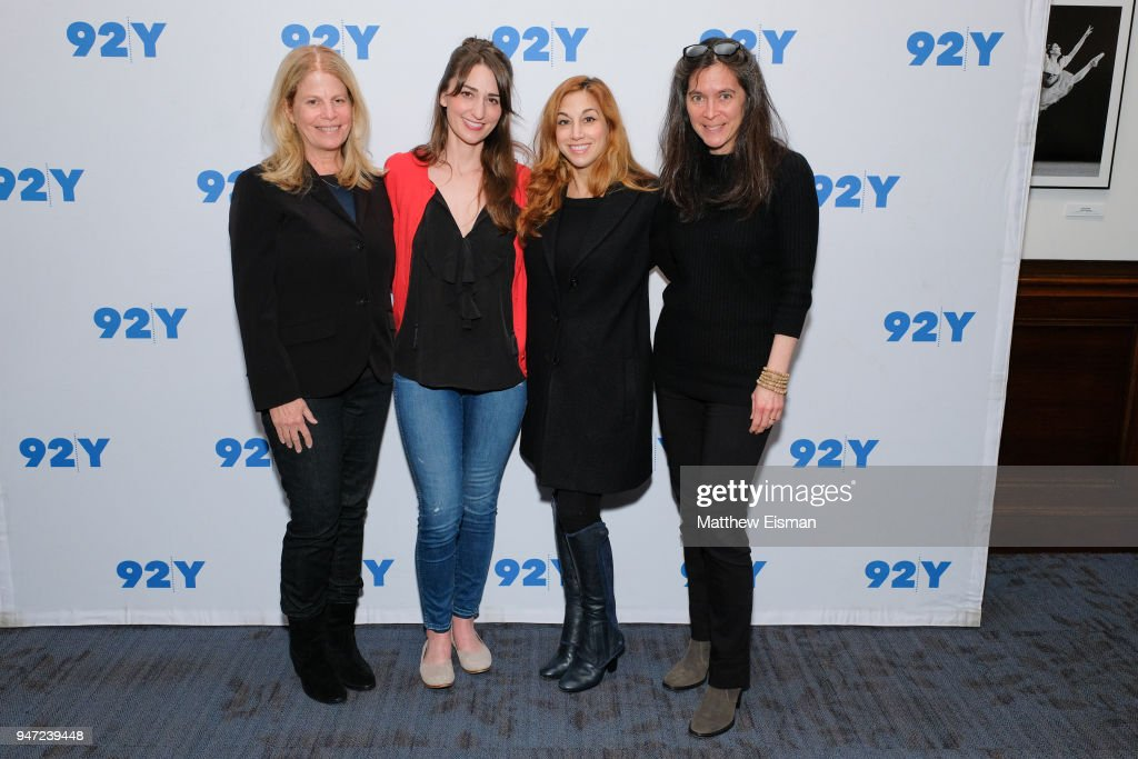 Jessie Nelson, Sara Bareilles, Lorin Latarro and Diane Paulus attend 92nd Street Y Presents: The Women Of 'Waitress: The Musical' at 92nd Street Y on April 16, 2018 in New York City.