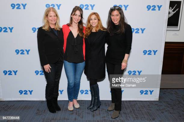Jessie Nelson Sara Bareilles Lorin Latarro and Diane Paulus attend 92nd Street Y Presents The Women Of 'Waitress The Musical' at 92nd Street Y on...