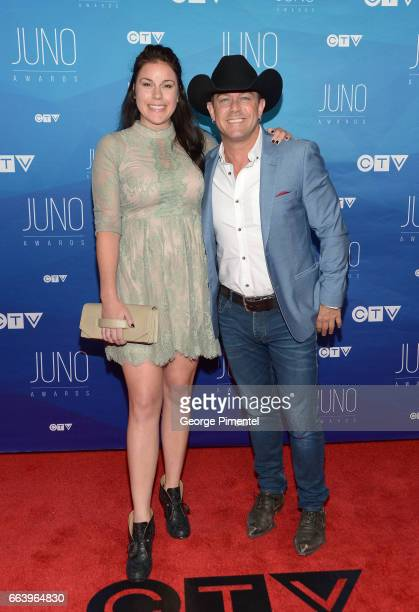 Jessie Pritchett and Aaron Pritchett arrives at the 2017 Juno Awards at Canadian Tire Centre on April 2 2017 in Ottawa Canada