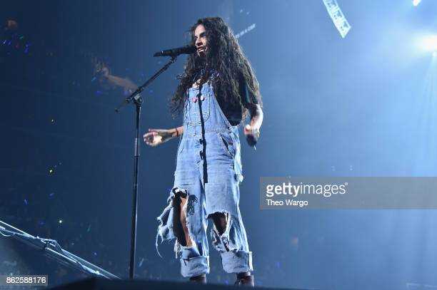 Jessie Reyez perfom onstage during TIDAL X Brooklyn at Barclays Center of Brooklyn on October 17 2017 in New York City