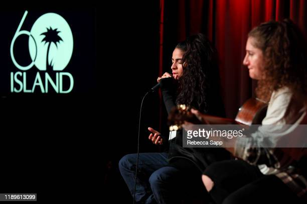 Jessie Reyez performs at Island Records 60th Anniversary at the GRAMMY Museum on November 23, 2019 in Los Angeles, California.
