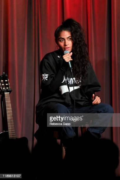 Jessie Reyez performs at Island Records 60th Anniversary at the GRAMMY Museum on November 23 2019 in Los Angeles California