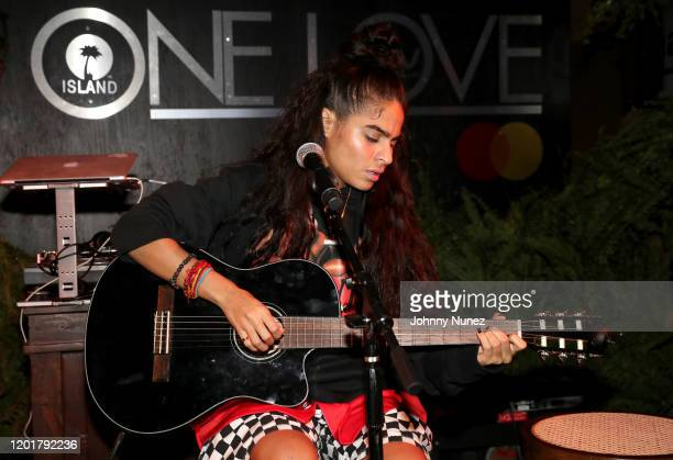 Jessie Reyez performs onstage during Primary Wave x Island Records presented by Mastercard at 1 Hotel West Hollywood on January 24 2020 in West...