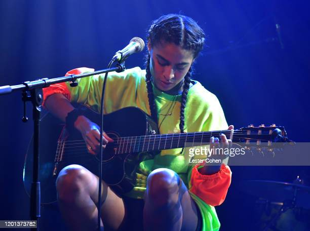 Jessie Reyez performs onstage during the BMG PreGrammy Party 2020 at Troubadour on January 22 2020 in West Hollywood California
