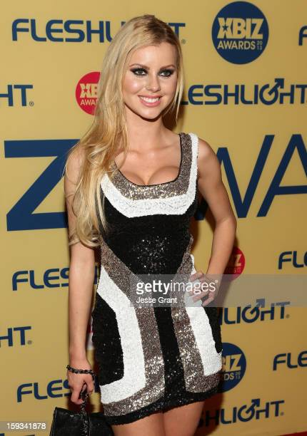 Jessie Rogers attends the 2013 XBIZ Awards at the Hyatt Regency Century Plaza on January 11, 2013 in Los Angeles, California.