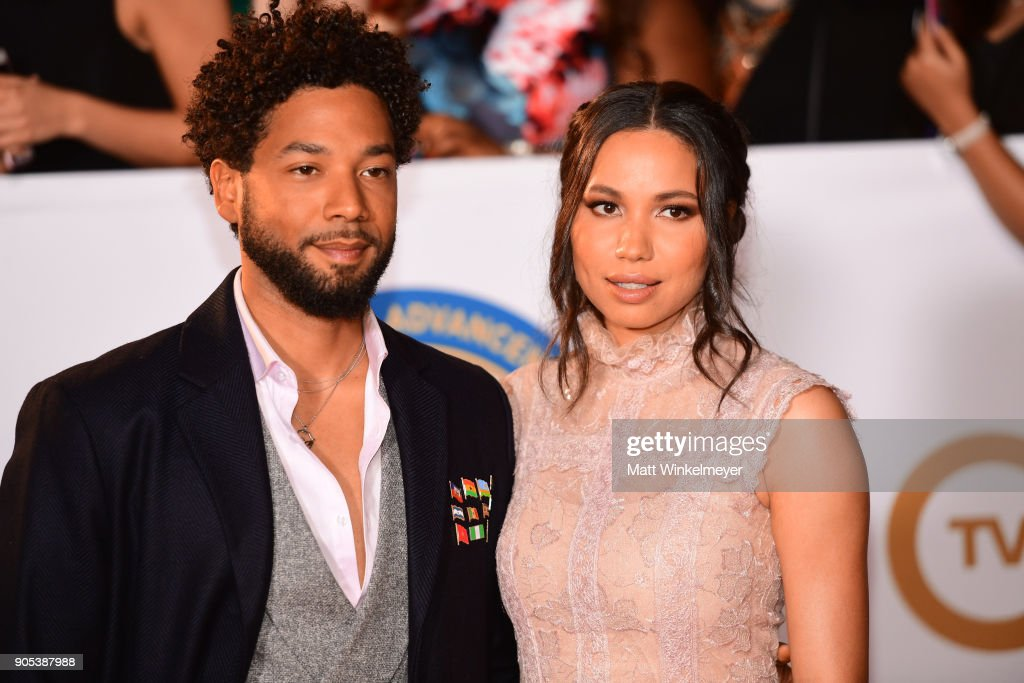 Jessie Smollett (L) and Jurnee Smollett attend the 49th NAACP Image Awards at Pasadena Civic Auditorium on January 15, 2018 in Pasadena, California.