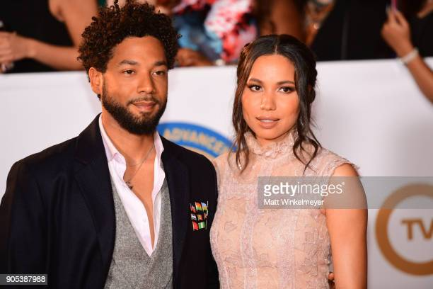 Jessie Smollett and Jurnee Smollett attend the 49th NAACP Image Awards at Pasadena Civic Auditorium on January 15 2018 in Pasadena California