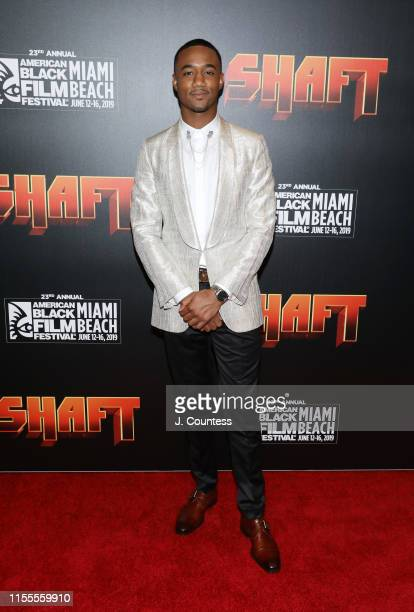 Jessie T. Usher attends the premiere of Shaft during the 23rd Annual American Black Film Festival on June 12, 2019 in Miami, Florida.