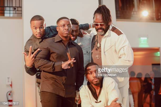 Jessie T. Usher, Enoch, Kwaku Osei-Acheampong, Kazembe Ajamu Coleman and Gabriel Osei-Acheampong attend The One And Only, Dick Gregory, Album Release...