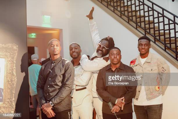 Jessie T. Usher, Kwaku Osei-Acheampong, Kazembe Ajamu Coleman, Enoch, and Gabriel Osei-Acheampong attend The One And Only, Dick Gregory, Album...