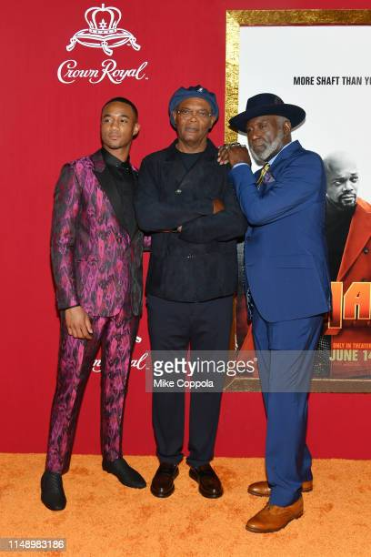 Jessie T Usher Samuel L Jackson and Richard Roundtree attend the Shaft premiere at AMC Lincoln Square Theater on June 10 2019 in New York City