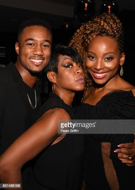 Jessie T Usher Tichina Arnold and Erica Ash at Survivor's Remorse x Upscale Magazine 'Champions Table' Private Dinner at American Cut on August 14...