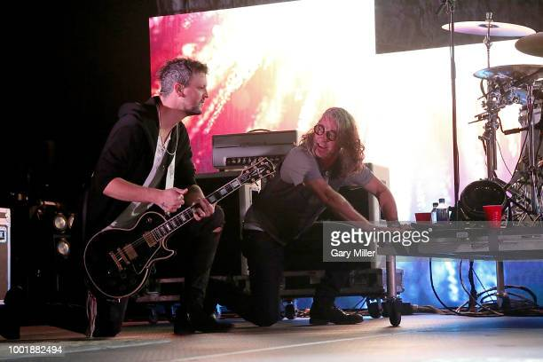 Jessie Triplett and Ed Roland perform in concert with Collective Soul at HEB Center on July 18 2018 in Cedar Park Texas