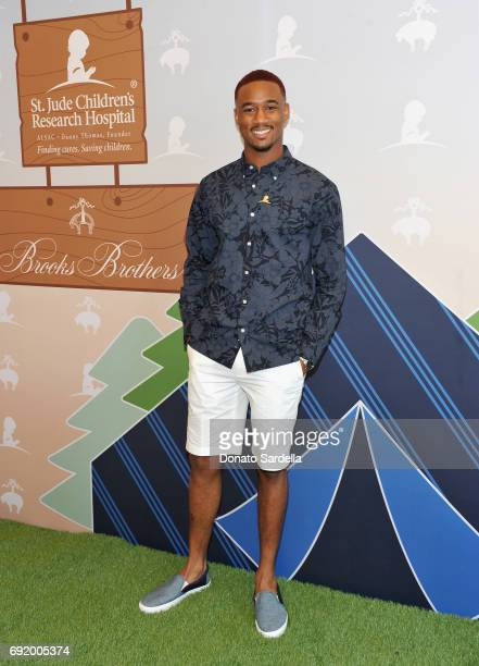 Jessie Usher at the Brooks Brothers Beverly Hills summer camp party benefitting St Jude Children's Research Hospital at Brooks Brothers Rodeo on June...