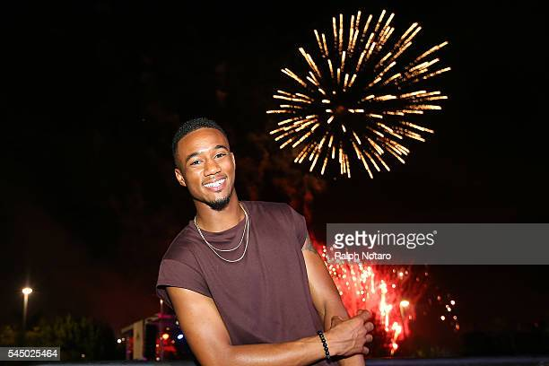 Jessie Usher of Independence Day Resurgence enjoys the Independence Day Celebration at Seminole Hard Rock Hotel Casino Hollywood on July 4 2016 in...