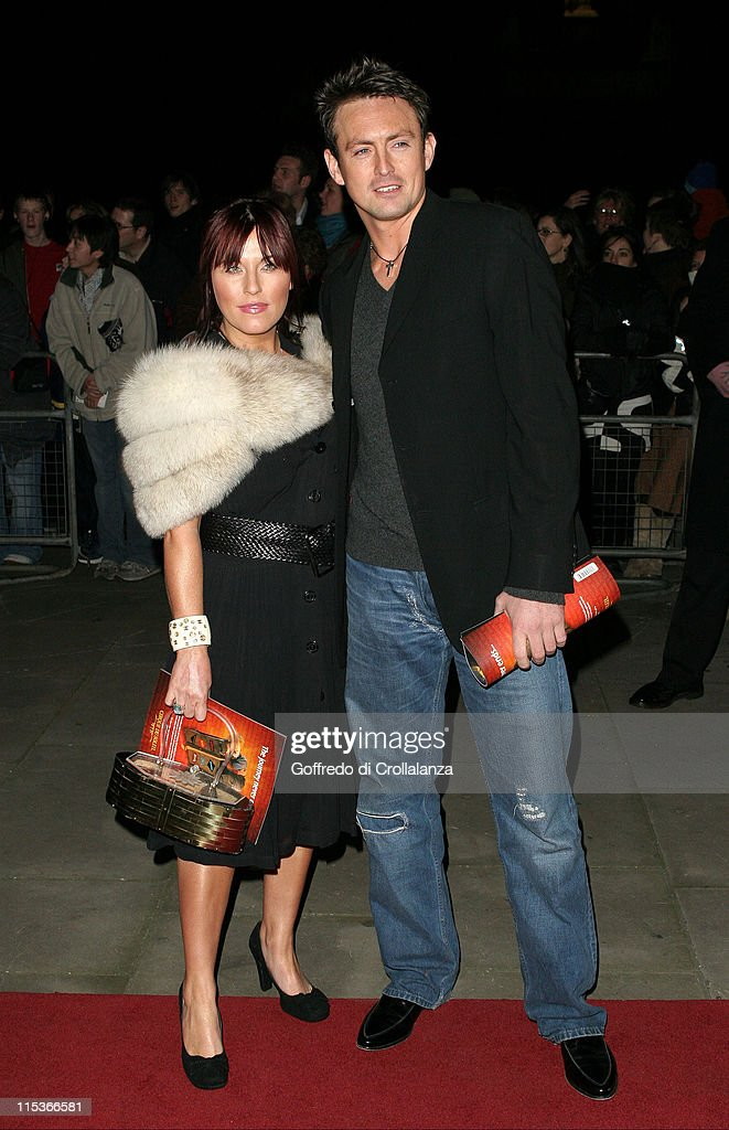 Jessie Wallace and Dave Morgan during Cirque du Soleil's 20th Anniversary of 'Dralion' at Royal Albert Hall in London, Great Britain.
