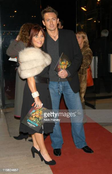 Jessie Wallace and Dave Morgan during Cirque du Soleil's 20th Anniversary of 'Dralion' Arrivals at The Royal Albert Hall in London Great Britain