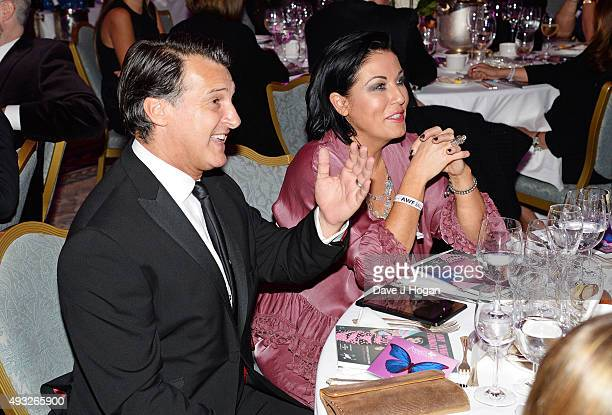 Jessie Wallace and Scott Mitchell attend the Amy Winehouse Foundation Gala at The Savoy Hotel on October 15 2015 in London England