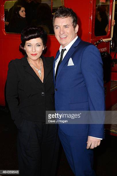 Jessie Wallace and Shane Richie attend the National Television Awards 2014 on January 22 2014 in London England
