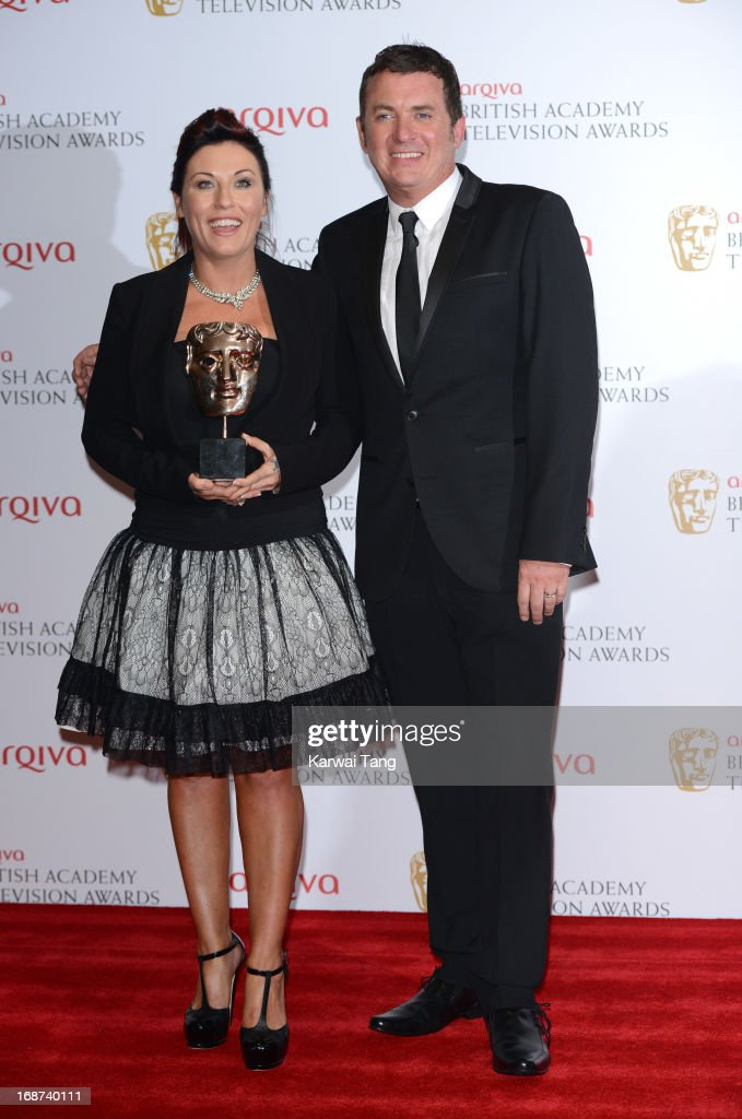 Jessie Wallace and Shane Richie poses in the press room at the Arqiva British Academy Television Awards 2013 at the Royal Festival Hall on May 12, 2013 in London, England.