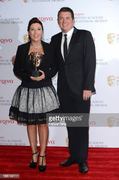 Jessie Wallace and Shane Richie poses in the press room at the Arqiva British Academy Television Awards 2013 at the Royal Festival Hall on May 12...