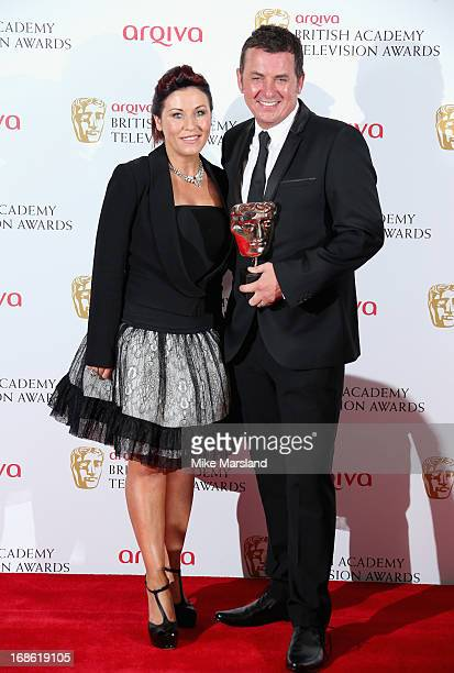 Jessie Wallace and Shane Richie with their Best Soap award for Eastenders during the Arqiva British Academy Television Awards 2013 at the Royal...
