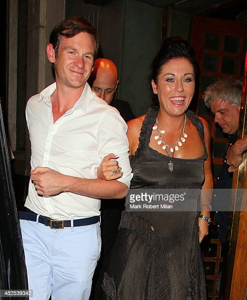 Jessie Wallace at the Ivy restaurant on July 22 2014 in London England