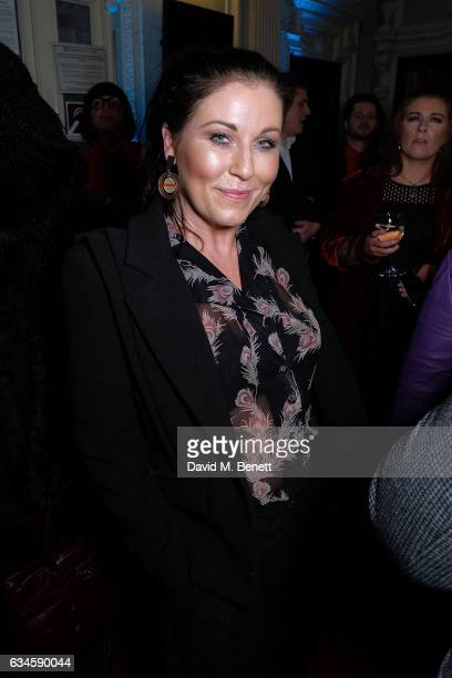Jessie Wallace attends the 2nd birthday gala performance of 'Beautiful The Carole King Musical' at The Aldwych Theatre on February 9 2017 in London...