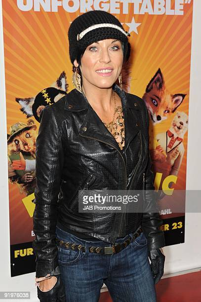 Jessie Wallace attends the VIP screening of Fantastic Mr Fox at Odeon West End on October 18 2009 in London England