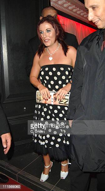 Jessie Wallace during Tim Wade Party July 13 2005 at Mo'Vida in London Great Britain