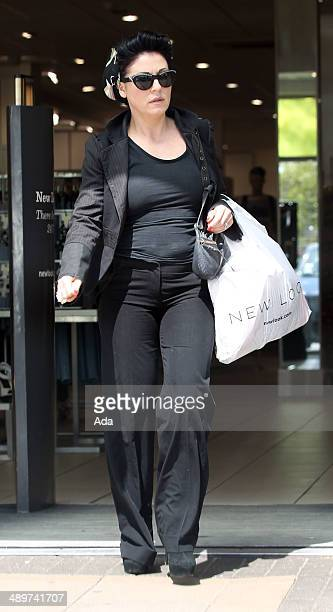 Jessie Wallace is seen shopping in between filming scenes for Eastenders on May 12 2014 in Borehamwood England