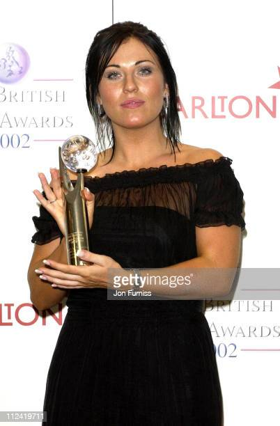 Jessie Wallace winner of sexiest female during The British Soap Awards Arrivals 2002 at London in London Great Britain