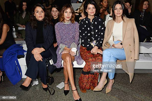 Jessie Ware Alexa Chung Pixie Geldof and Kendall Jenner attend the Topshop Unique show during London Fashion Week Fall/Winter 2015/16 at Tate Britain...