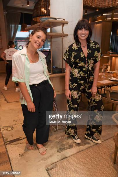 Jessie Ware and Daisy Lowe attend the launch of Giz Green Pizza Pies PopUp at Passo on July 17 2020 in London England