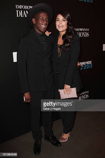 Jessie Ware and Labrinth attend Fashion's Night Out 2012 at Emporio Armani Bond Street on September 6 2012 in London England