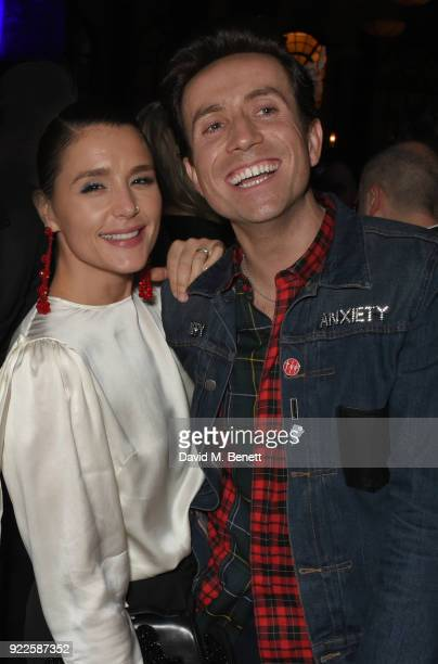 Jessie Ware and Nick Grimshaw attend the Universal Music BRIT Awards AfterParty 2018 hosted by Soho House and Bacardi at The Ned on February 21 2018...
