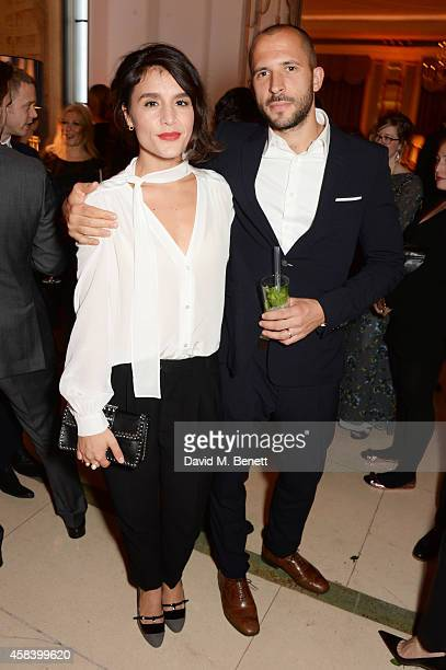 Jessie Ware and Sam Burrows attend the Harper's Bazaar Women Of The Year awards 2014 at Claridge's Hotel on November 4 2014 in London England