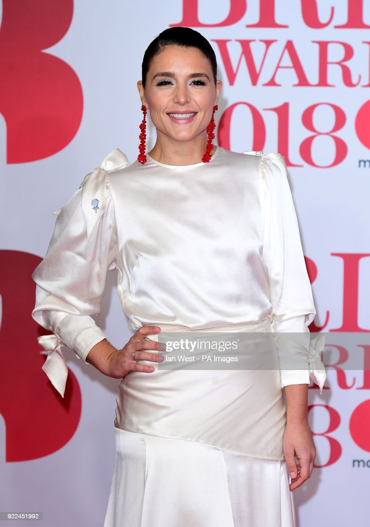 Jessie Ware attending the Brit Awards at the O2 Arena, London