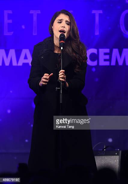 Jessie Ware attends as the Regent Street Christmas Lights are switched on by Take That at Regent Street on November 16 2014 in London England