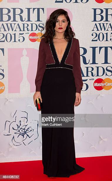 Jessie Ware attends the BRIT Awards 2015 at The O2 Arena on February 25 2015 in London England